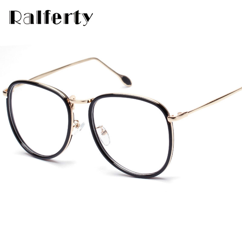 Ralferty Oversized Glasses Frame Women Big Optical Frames Retro ...