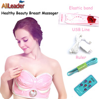 Comfortable 100 240V Usb Plug Double Electric Breast Enhance Apparatus Chest Massage Instrument Enlargement Bra For
