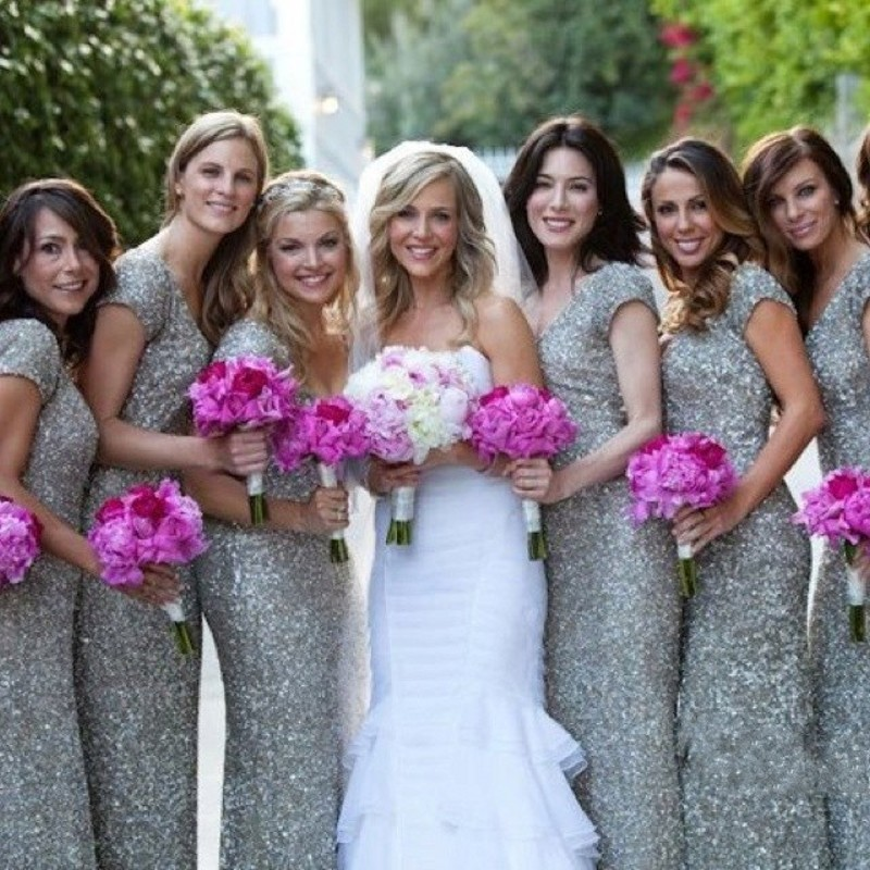 High Quality Ivory Sequin Bridesmaid Dress-Buy Cheap Ivory Sequin ...