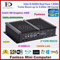 8 G RAM + 128 G SSD 1 T HDD Fanless mini pc industrial Intel Core i5 4200u, Hdmi, Hd 4 k, 300 M wi fi, 2 * COM rs232, Vga, Windows 10