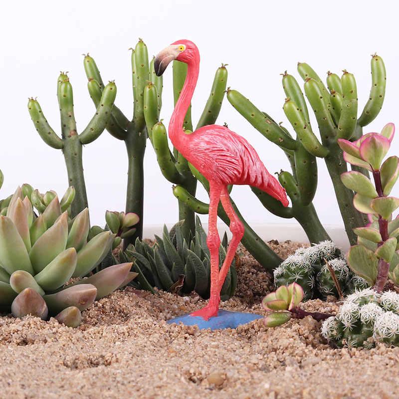 Oenux моделирование диких Фламинго FMG фигурки птиц модель миниатюрный бонсай украшения сада аксессуары птица фигурка игрушка