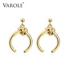 Висячие серьги varole с узлом золотого цвета висячие для женщин