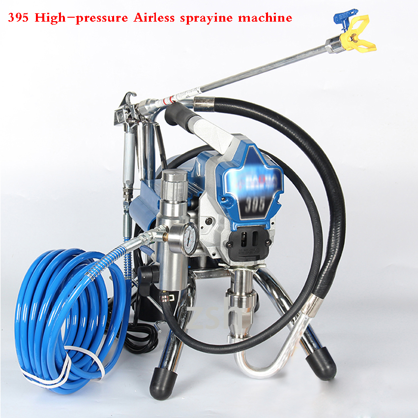 395 Professional Airless Paint Sprayer  High Pressure Spray Gun Electric Painting Machine Spraying 220V 50Hz