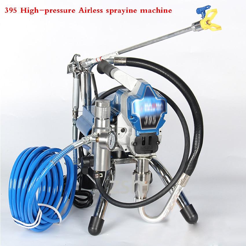 395 Professionale Airless Vernice Spruzzatore Ad Alta Pressione Pistola A Spruzzo Airless Airless Pittura Elettrica Macchina A Spruzzo 220 v 50 hz