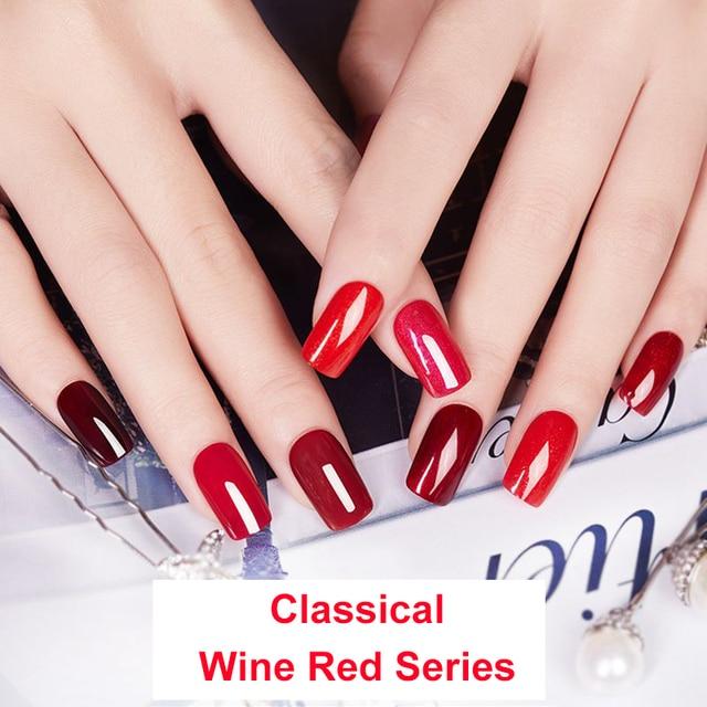 Elite99 10ml Wein Rot Farbe Gel Polish UV Farbe Maniküre Nail art Gel Lack Tränken Weg Langlebige Emaille UV Gel Nagellack