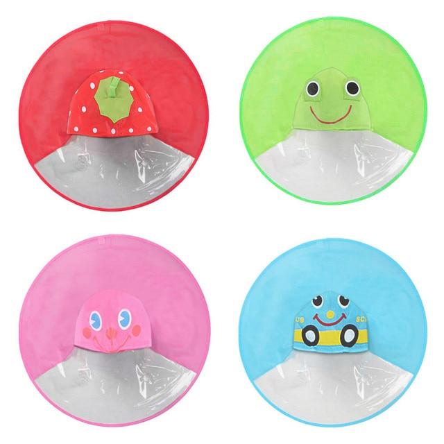 Niños de lluvia cubierta UFO capa de lluvia niños paraguas sombrero ...