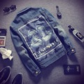 2016 Новая Мода Мужские Куртки и Пальто Высокого Качества Мужской Джинсовый Жакет Пальто Негабаритных 5XL Джинсовая Куртка Homme Бренд Одежды