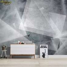 beibehang custom Nordic abstract geometric line wall papers home decor TV sofa background Retro geometry decorative 3D painting(China)