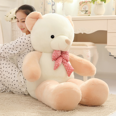 lovely bowtie teddy bear plush toy soft hug toy about 120cm bear plush toy pillow ,Christmas gift x208 lovely giant panda about 70cm plush toy t shirt dress panda doll soft throw pillow christmas birthday gift x023