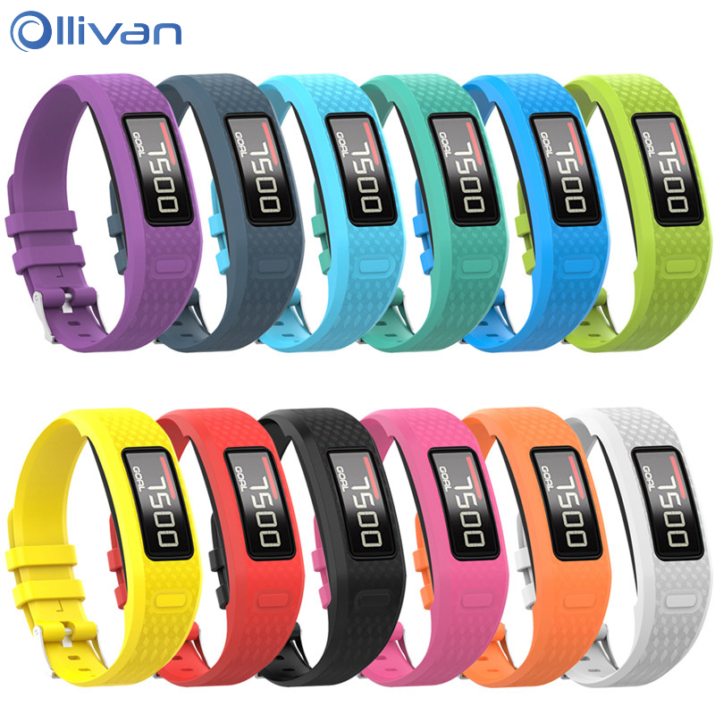 S/L Size Silicone Wrist Strap Replacement Watch Band For Garmin Vivofit 1/Vivofit 2 For Garmin Vivofit1 Vivofit2 Bracelet Belt
