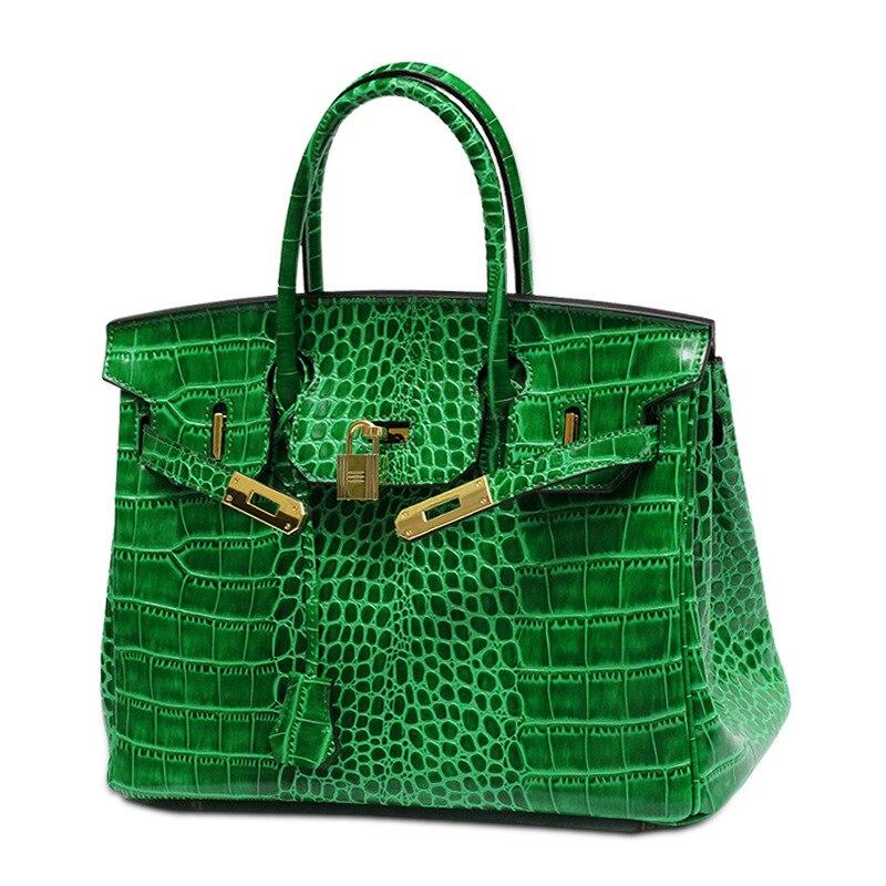 Mode de luxe sacs à main femmes sacs designer nouvelle mode en relief crocodile motif Véritable Cuir femmes messenger sacs