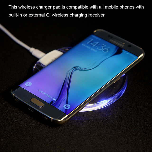 Universal Qi Wireless Charger Dock Charging Pad Mobile Phone Adapter Wirless Charge Cell for Samsung Galaxy S7 S6 edge Note 4 5