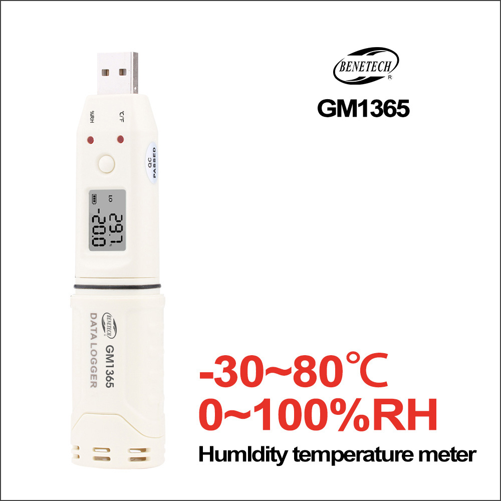 BENETECH Digital Thermometer Handheld Hygrometer Humidity Temperature Controller Electronic -30-80C Gm1365 Thermometer Tester