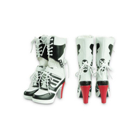 Harley Quinn Shoes Suicide Squad Clown Cosplay Boots Party Halloween Women Shoe 2016 New