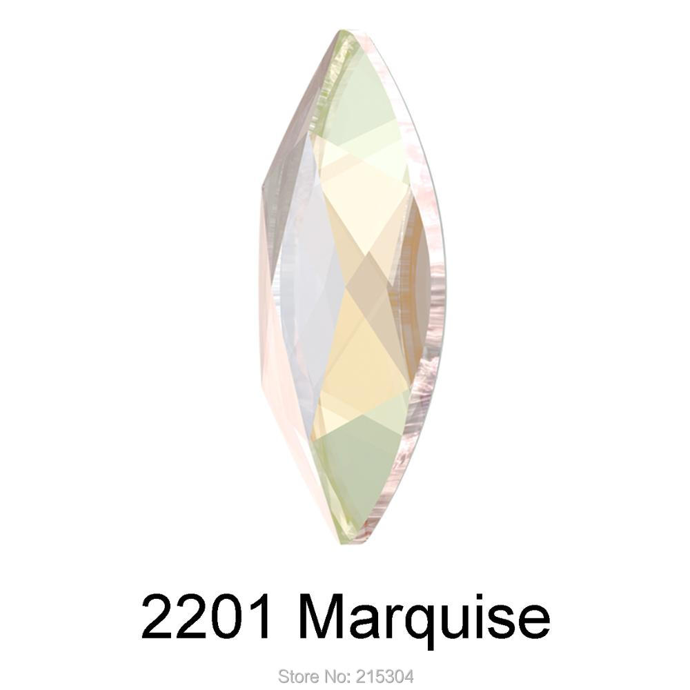 Swarovski Elements Marquise (2201) AB Crystal ( No Hotfix or Hotfix ) Iron  On ( 8x3.5mm  1af65df24fad