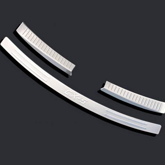Car styling Stainless Steel Inner Rear Bumper Protector Sill Trunk Trim for <font><b>Mazda</b></font> CX-5 <font><b>CX5</b></font> 2012 2013 2014 <font><b>2015</b></font> <font><b>accessories</b></font> image