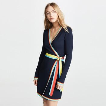 68e188f0b7c HDY Haoduoyi женское платье с v-образным вырезом