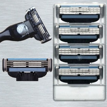 Replacement Mach 3 Shaving Razor Blade för män 3 Layer Shaver Face Care Razor Blade 4pcs / BOX