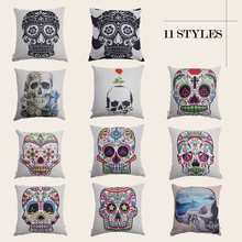 цены Halloween Pillowcase Cover Skull Thick 45*45cm Custom Kids Knitted Throw Pillowcase Home Bed Decorative Appliance Tools