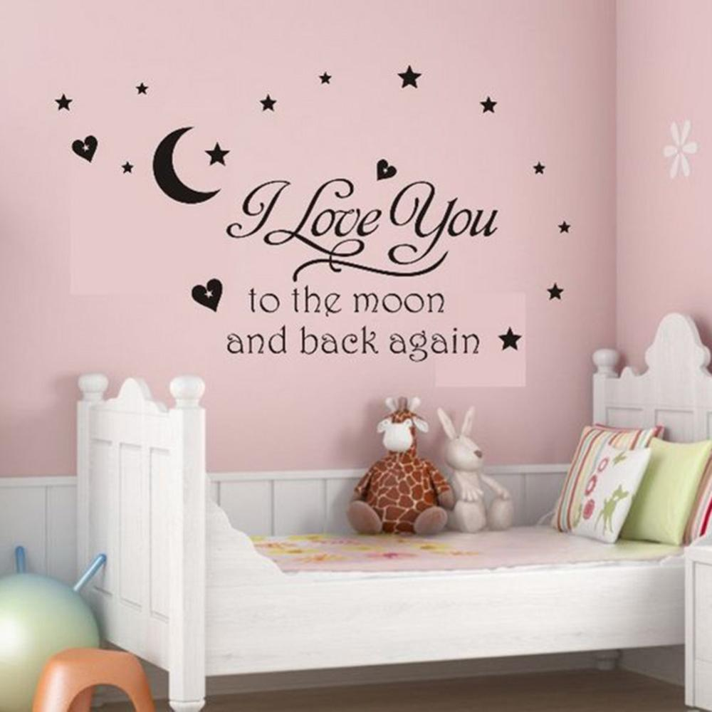 online get cheap love quotes babies aliexpress com alibaba group i love you to the moon and back again love quotes wall decals decorative stickers baby
