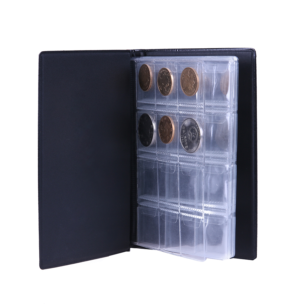 240 Coin Collection Holders Storage Money Penny Pockets Album Black Books Micro Trader
