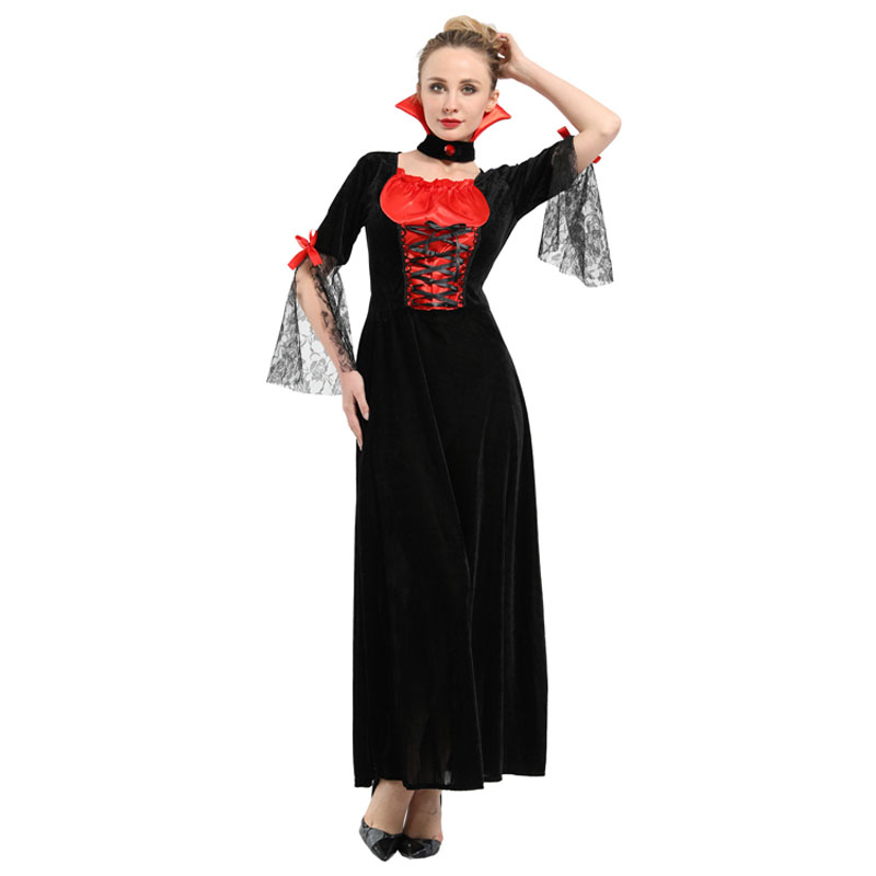 Women 39 s Sexy Midnight Vampiress Countess Costume Cosplay Halloween Carnival Mardi Gras Party Fancy Dress in Holidays Costumes from Novelty amp Special Use