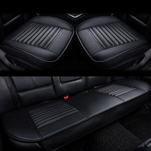 Image 1 - Tampas de assento de carro couro do plutônio protetor de assento de carro almofadas de bambu carvão coxim de carro lado em torno da capa de assento quatro estações