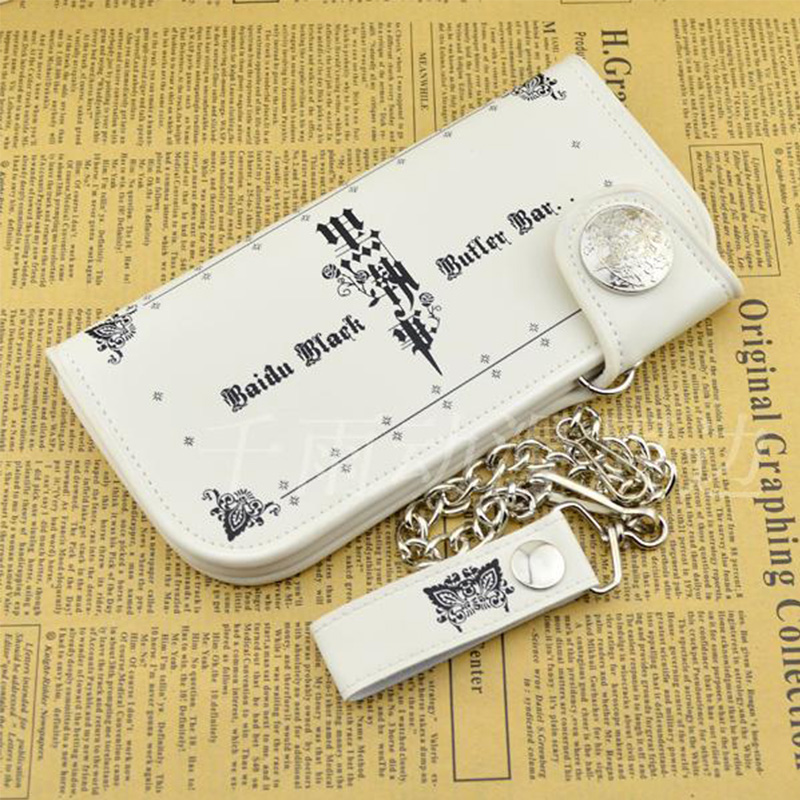 Hot Fashion Black Butler Men Wallets ID Card Holder Bifold Coin Purse Pockets Long PU Wallet Billfold With Coin Bag Gift 2017 new fashion men wallets bifold wallet id card holder coin purse pockets clutch with zipper men wallet with coin bag r051