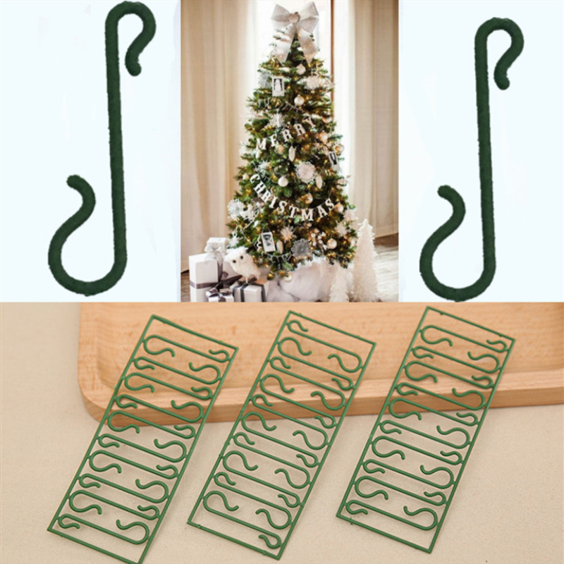 50pcs/lot Christmas Ornaments S Shape Hooks Christmas Tree Decoration Multi Purpose Holders