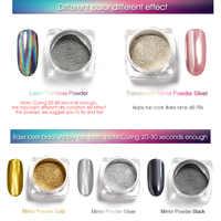 Venalisa набор блестящих пигментов 5 цветов/Набор ногтей дизайн порошок с зеркальным эффектом для ногтей Гель-лак для ногтей Серебряный Золотой...