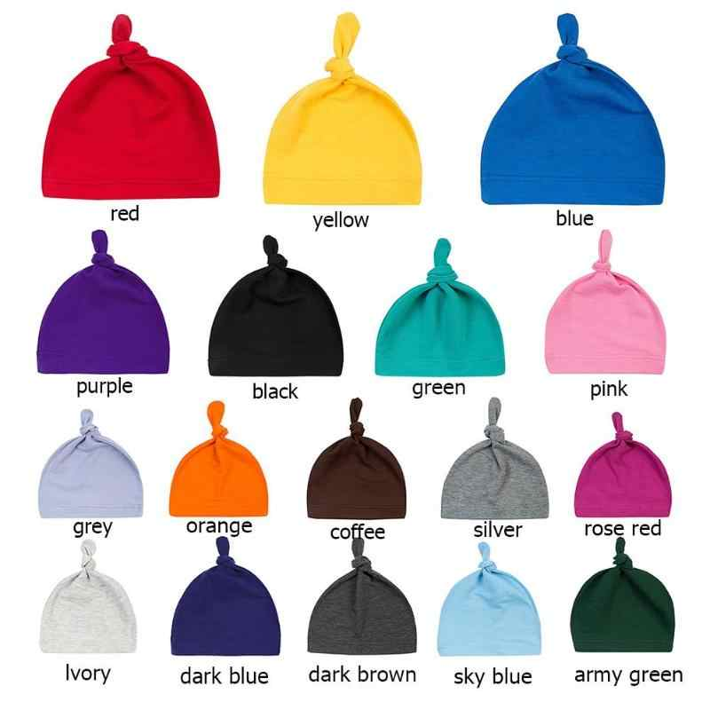 ... 0-24M Newborn Baby Boys Girls Warm Hat Kids Solid Color Beanies Knotted  Cap sleep ... 9cdfedef7c4a