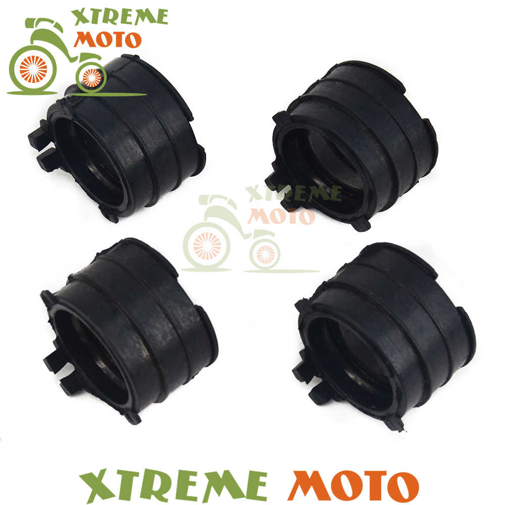 Yüksek Kaliteli Siyah Tutkal 4 adet Carb Emme Karbüratör arabirim adaptörü Bağlantı Borusu Manifoldu Honda CBR400 NC23 NC29 87- 94