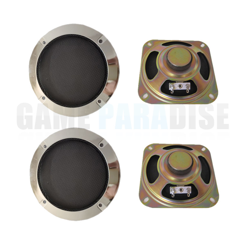 2 pcs/lot Square 8ohm 5W speaker with silver speaker net for DIY arcade game machine game machine accessory