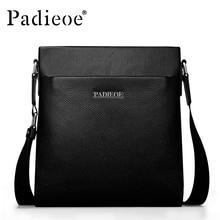 PADIEOE Men Bag Genuine Leather Casual Male Crossbody Shoulder Messenger Bags