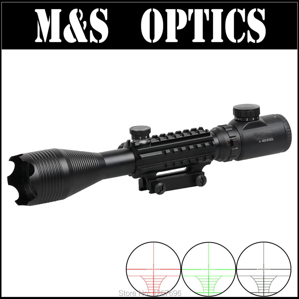 4-10X50 IRG  Red Green Illumination Airguns Optical Sight Riflescope Hunting Rifles scope For Airsoft Air Pistol Made In China boresighter scope alignment device rifles pistols handguns firearms bore sight kit