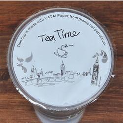 disposable  bubble tea /milk tea /plastic cup sealing  film for diameter 90cm/95cm cup,tea time pattern cup sealing film