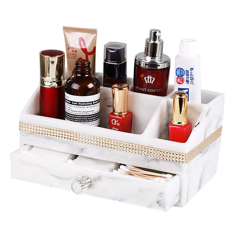 Boîte de rangement de style encre minimaliste moderne grand tiroir en marbre type cosmétique combinaison cosmétique