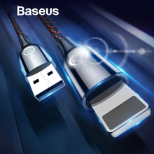 Baseus Automatically Power-off USB Cable For iPhone Xs Max XR X 8 Plus Fast Charging Cable For iPad LED Lighting Data Sync Cord
