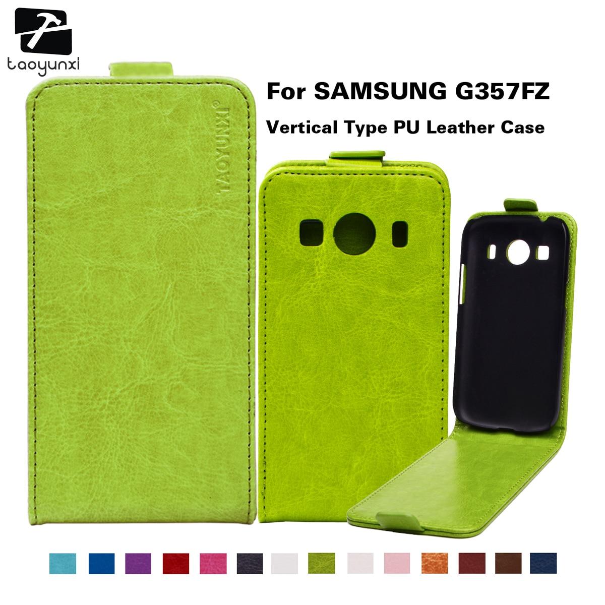 Pu Leather Case For Samsung Galaxy Ace 4 Lite G313 G313h Sm G313h2 Cassing Casing Housing V Fullset Taoyunxi Phone Lte G357fz Cover Style G357
