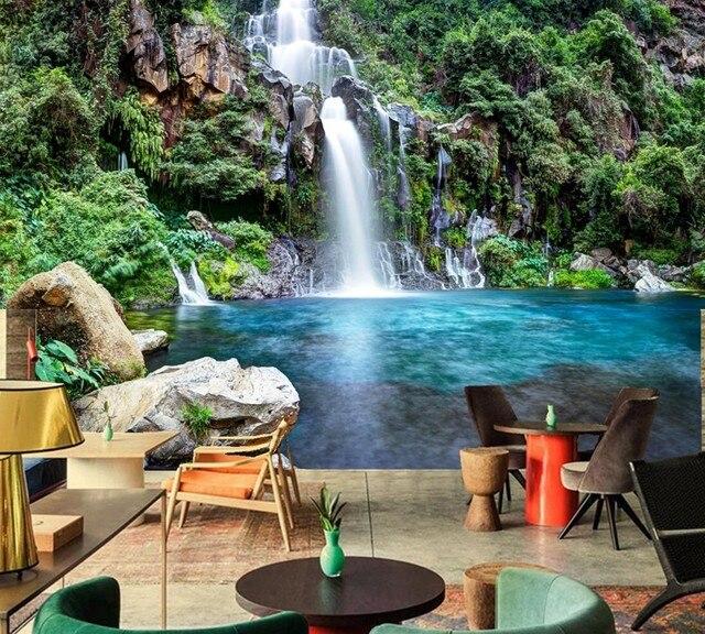 Online Shop Parks Waterfalls Stones Nature wallpaper,living room ...