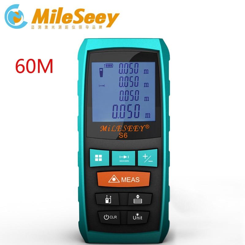 Mileseey S6 laser tape measure rangefinder 60m distance measurer