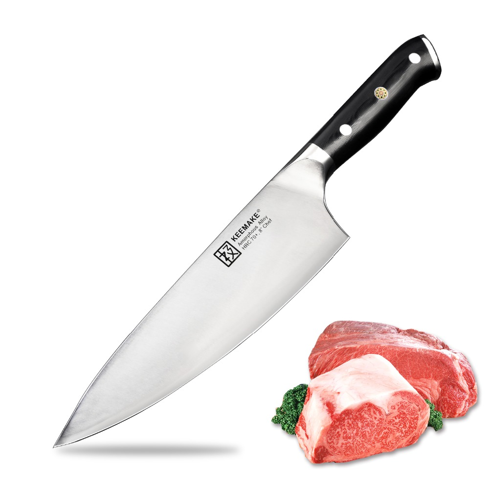 SUNNECKO Chef Knife Kitchen Knives Liquid Metal Steel 70HRC Strong Hardness High Quality 8 inch Cutting
