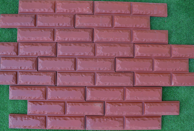 6pcs/lot 36 Bricks VENEER MOLDS Artificial Texture Wall Brick Maker Plastic  Cement Mold For