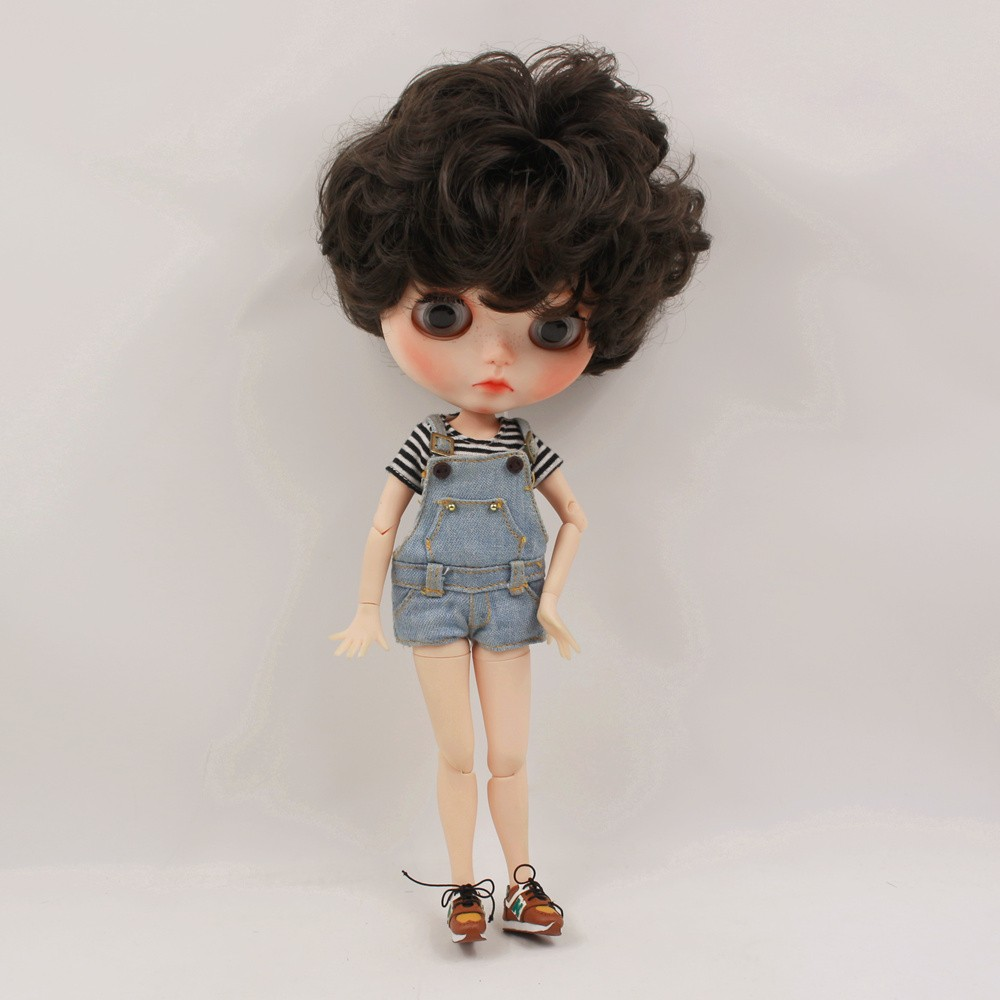 Neo Blythe Doll T-Shirt with Bib Suit 2