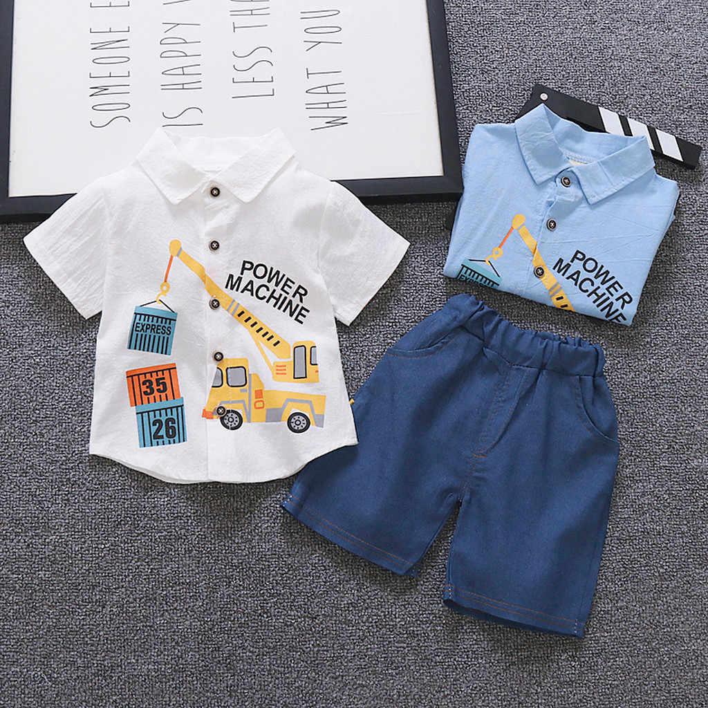Niño Chico Niños Ropa De Verano Ropa De Impresión De Dibujos Animados Camiseta Pantalones Cortos De Mezclilla Chico S Adolescentes Niños Conjuntos De