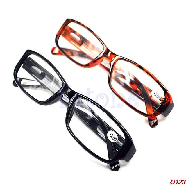 Unisex Women Men Comfy Reading Glasses Presbyopia Black Brown New 1.0 1.5 2.0 2.5 3.0 Diopter Black Brown
