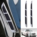 2 pcs 3D Silver Car Chrome Grille Shark Gill Simulation Air Flow Vent Fender Sticker Hot Selling