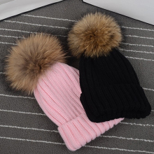 Female Sports Winter Running Cap Poms Hat For Women Girl S Knitted Beanies Ball Thick Skullies
