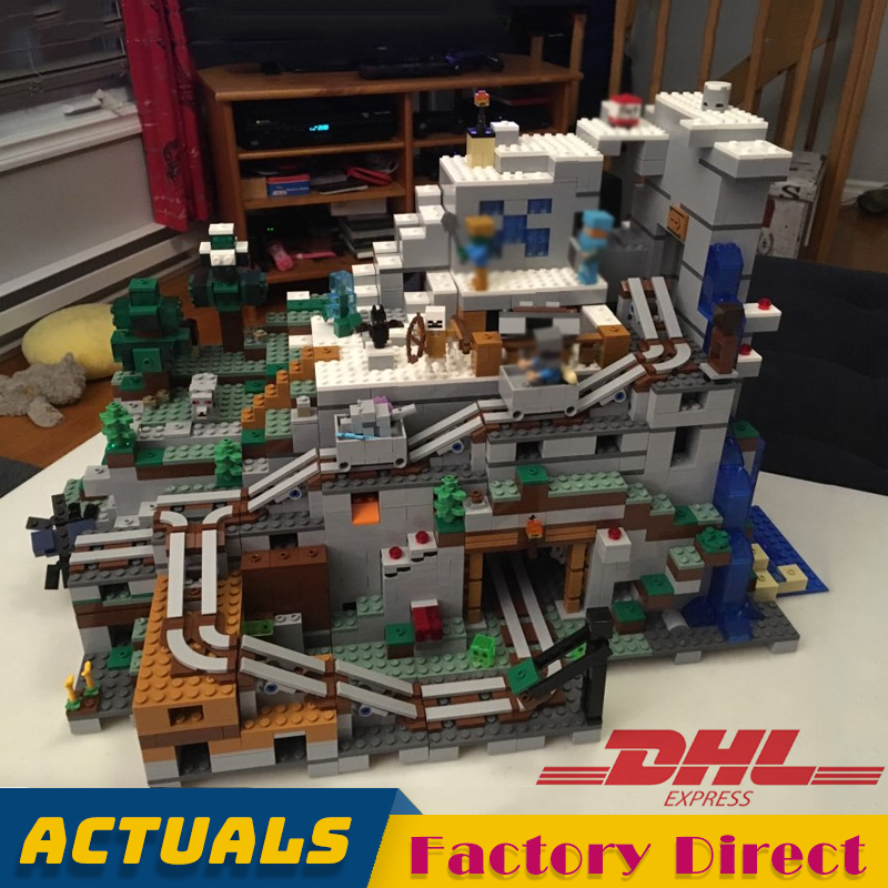 2863 pièces la grotte de montagne Minecrafted My World 831 bac à sable modèle blocs de construction briques jouet pour enfants LegoINGlys 21137