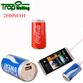 Tropweiling mini 18650 banco de la energía 2600 mAh Mini Banco de la Energía de Batería Externa Portable Del Cargador para el Teléfono Celular, teléfono móvil